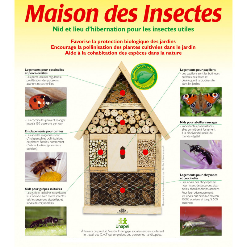 maison des insectes jardin et saisons. Black Bedroom Furniture Sets. Home Design Ideas