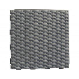 Dalle de jardin clipsable tressée gris ardoise 28 x 28 cm