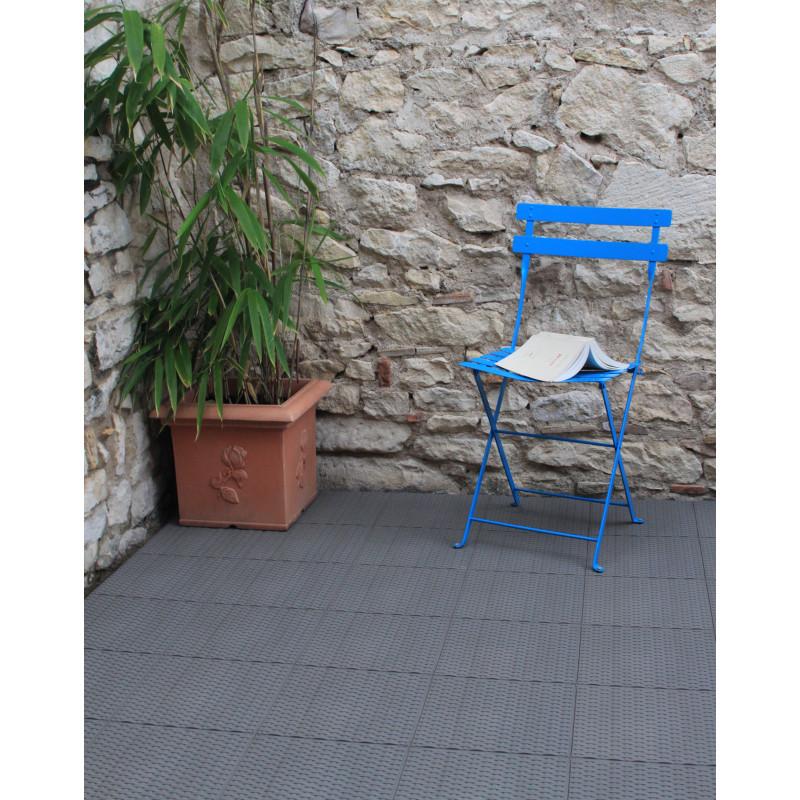 Dalle De Terrasse Clipsable En Plastique Gris Ardoise  Jardin Et