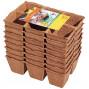 48 pots godets carrés biodégradables