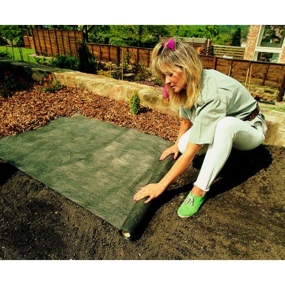 Bache anti mauvaise herbe écologique 15 x 1 m par Jardin et Saisons