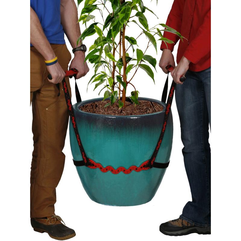 Sangle porte pot le syst me innovant de jardin et saisons - Pot de fleur en zinc ...