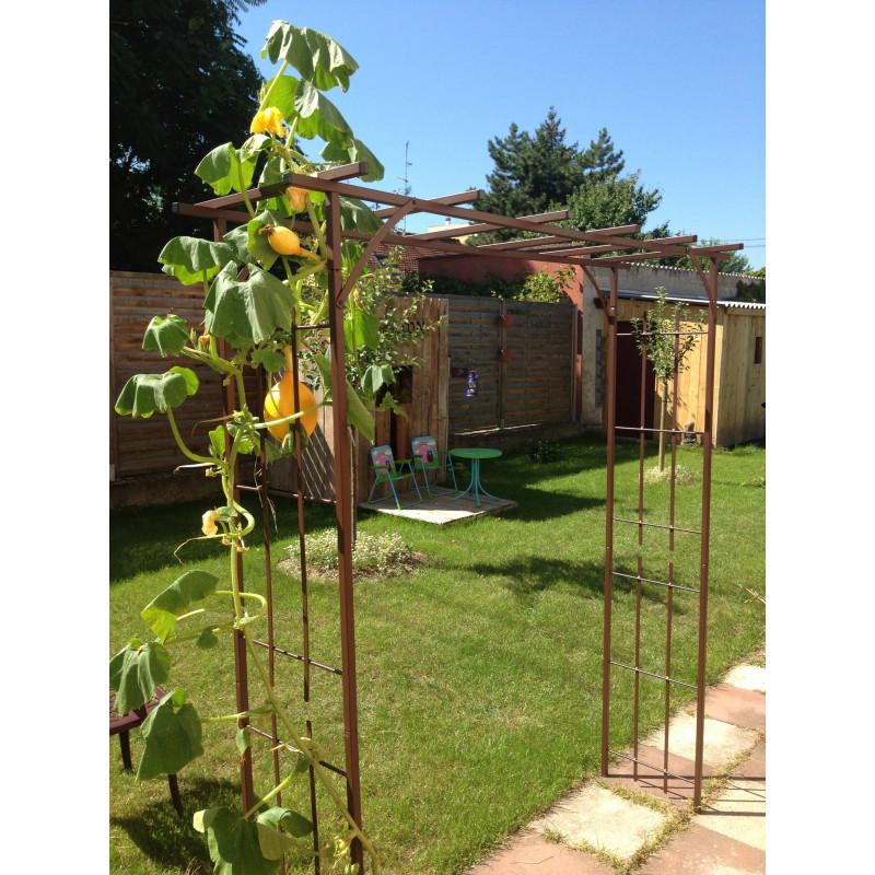 pergola de jardin en m tal de qualit fran aise jardin et. Black Bedroom Furniture Sets. Home Design Ideas
