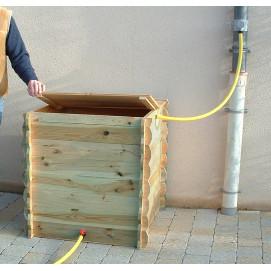 Réserve d'eau de pluie en bois 420 litres