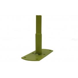 Pieds de fixation tube rond vert anis (les 4)