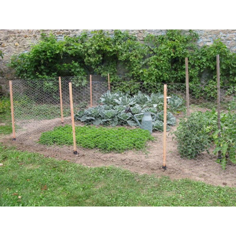Kit de clôture potager en bois 25 m pour protéger votre jardin potager