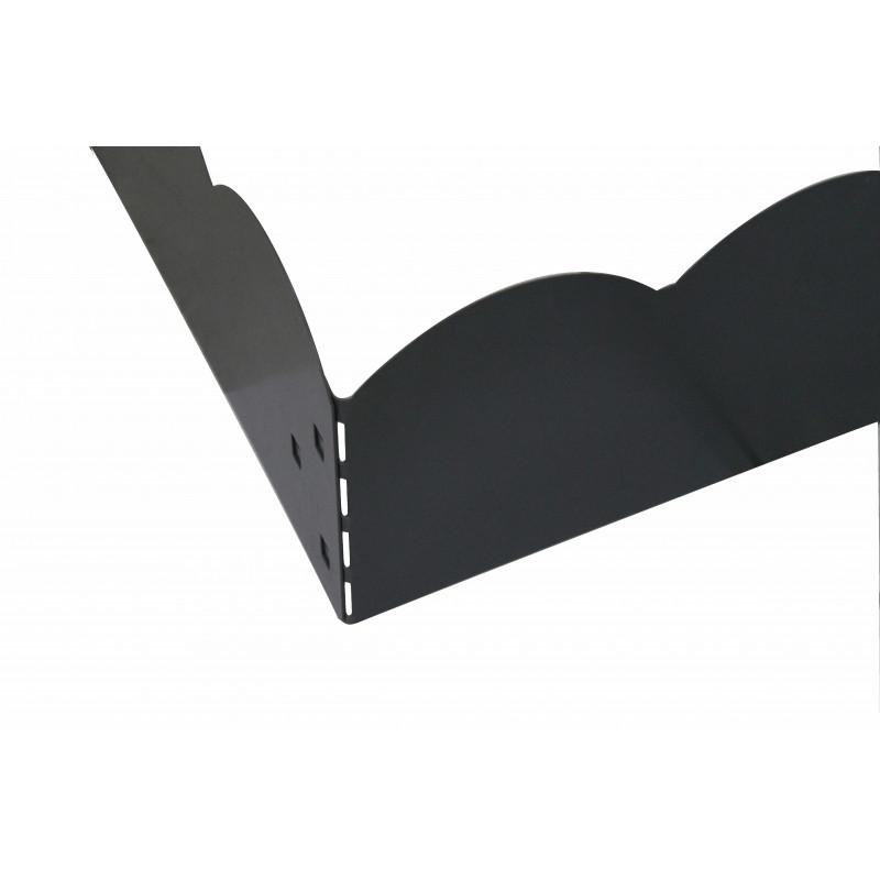 installez une bordure de jardin en acier gris de jardin et. Black Bedroom Furniture Sets. Home Design Ideas