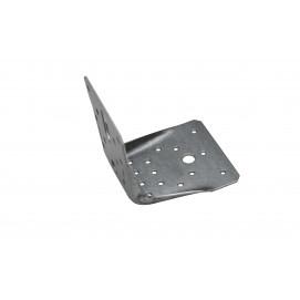 Plaque à angle droit pour bordure en planche de bois
