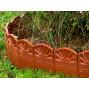 Bordure décorative de jardin marron