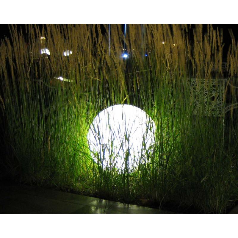Boule lumineuse blanche ext rieure jardin et saisons for Boules lumineuses jardin
