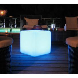Eclairage design jardin boule blanche sans fil jardin for Cube lumineux exterieur sans fil