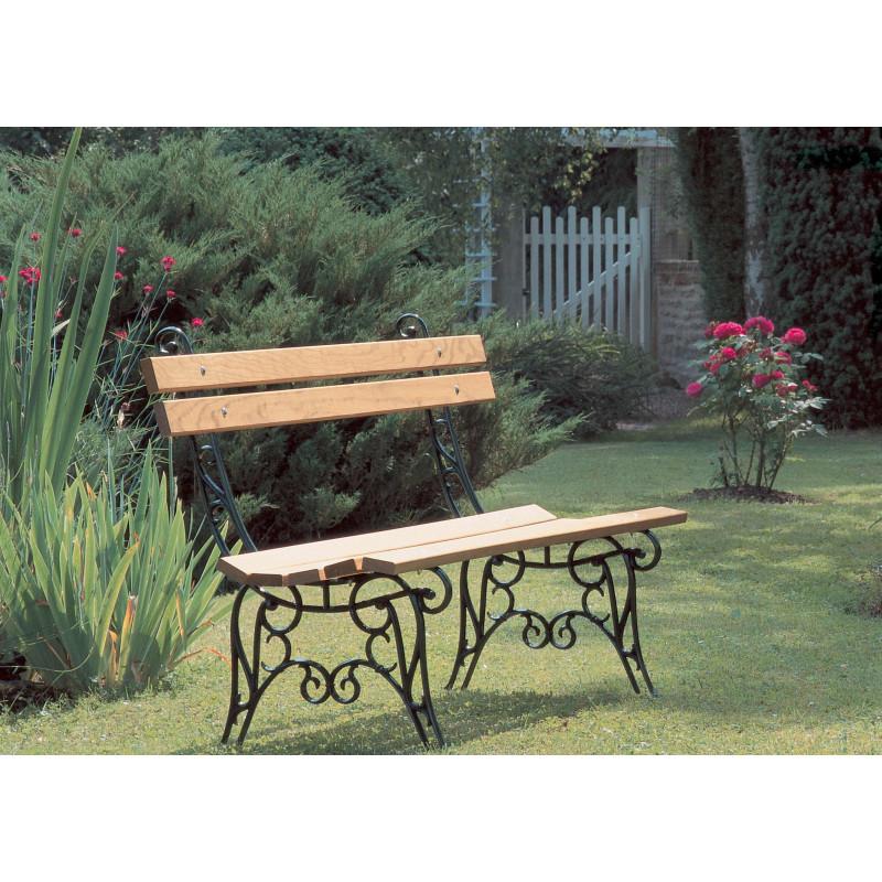 Banc de jardin fonte et bois type lorraine jardin et saisons - Banc de jardin en bois et fonte ...