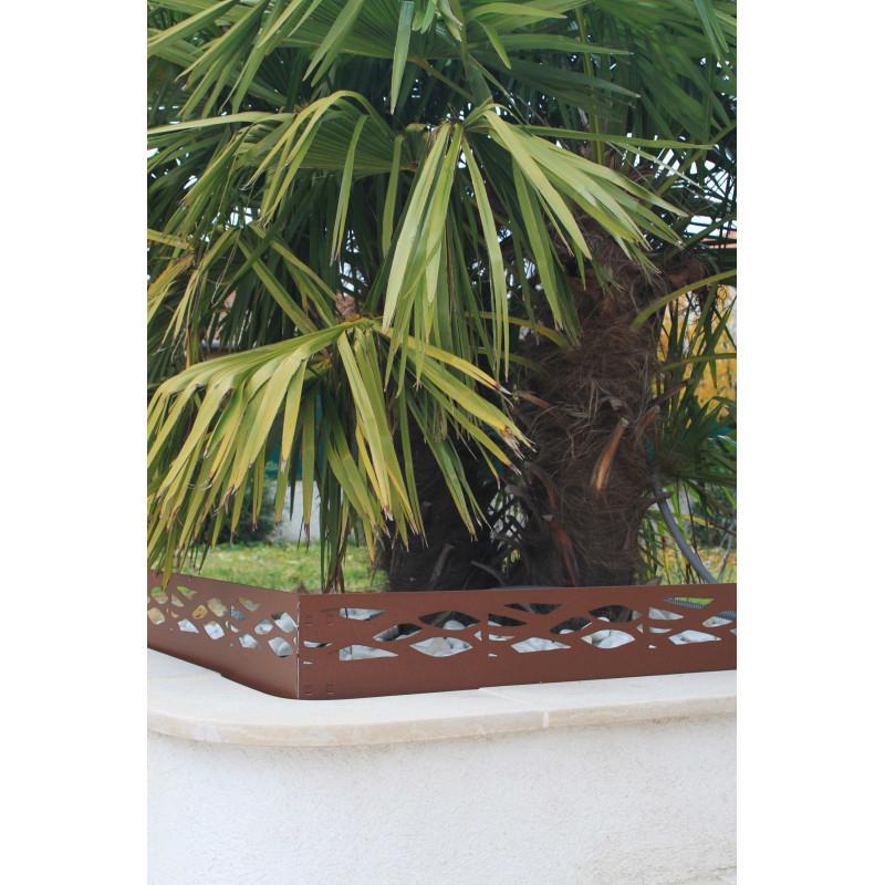 Bordure de jardin en acier fer vieilli ajour e chez jardin et saisons - Bordure de jardin metal ...