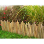 Bordure de jardin en bambou naturel