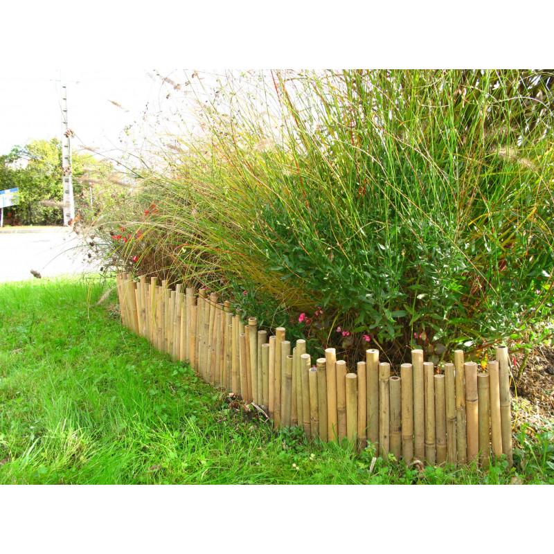 bordure de jardin en bambou naturel. Black Bedroom Furniture Sets. Home Design Ideas