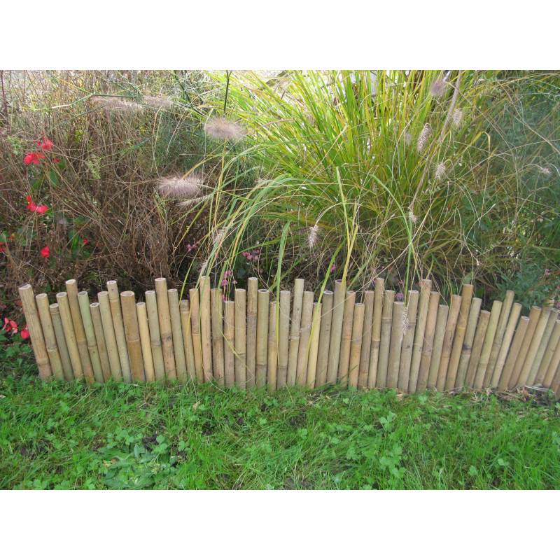bordure de jardin en bambou naturel