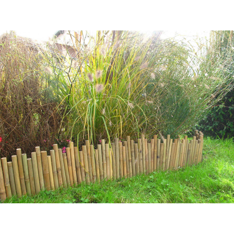 Bordure de jardin en bambou naturel for Jardin naturel