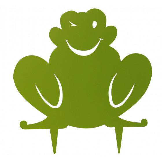 Figurine en métal grenouille à planter