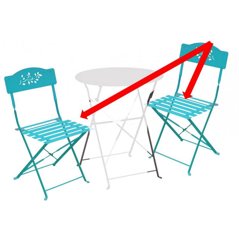 Chaises de jardin pliantes en m tal bleues 2 jardin et for Chaises pliantes de jardin