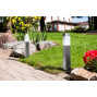 Bornes solaires de jardin LED inox 35 cm (les 2)