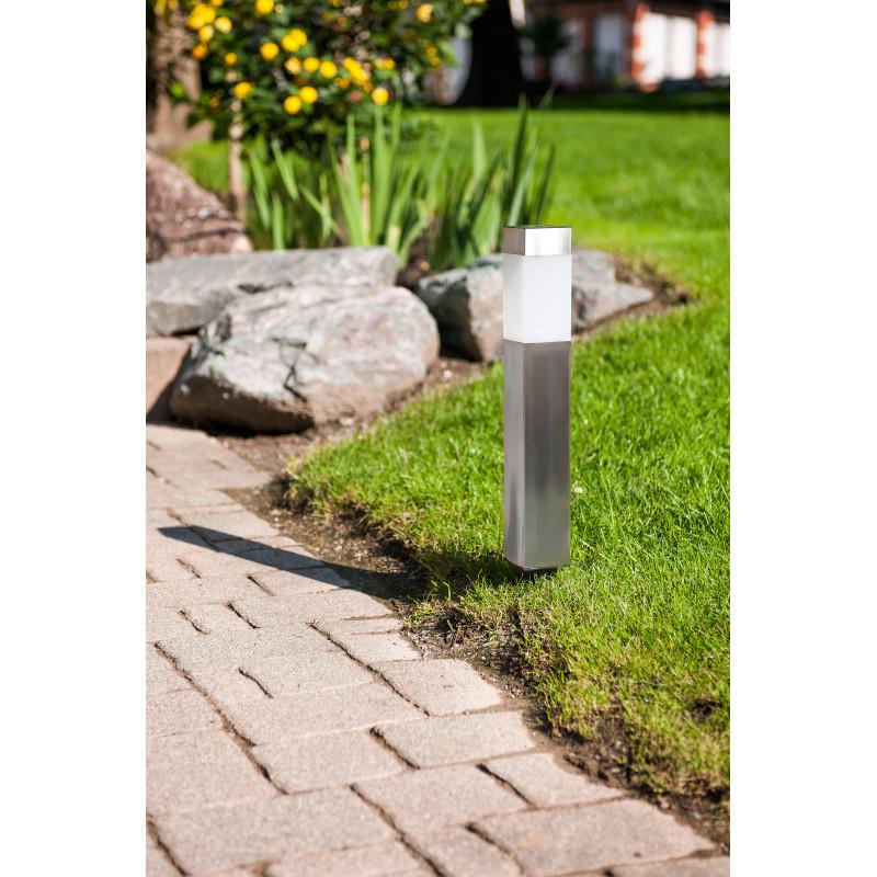 Bornes solaires de jardin led inox 35 cm 2 jardin et for Borne solaire jardin