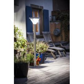 Lampadaire de jardin solaire à LED 155 cm