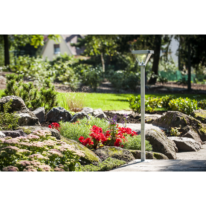 Lampadaire de jardin solaire led 155 cm for Jardinetsaisons