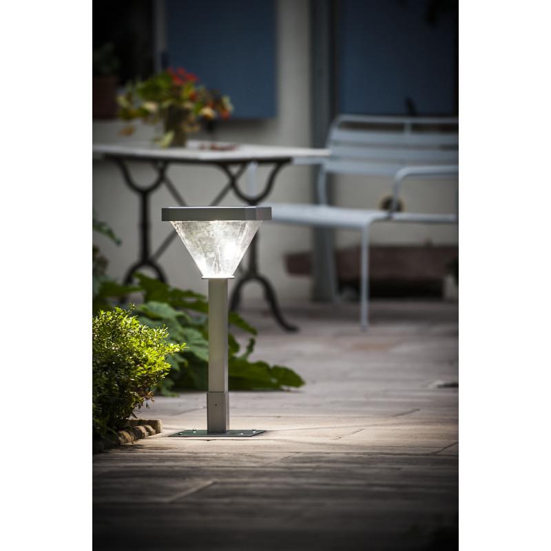 lampadaire de jardin solaire led 155 cm jardin et saisons. Black Bedroom Furniture Sets. Home Design Ideas