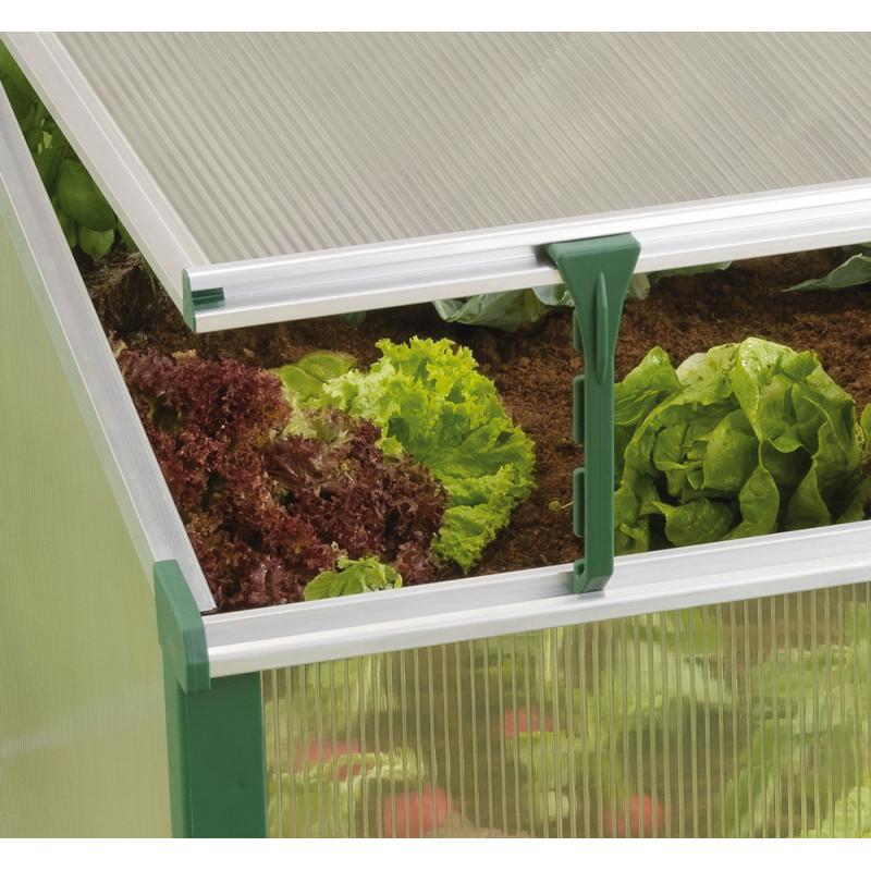 Serre ch ssis de jardin double ouverture jardin et saisons - Chassis de jardin en polycarbonate ...