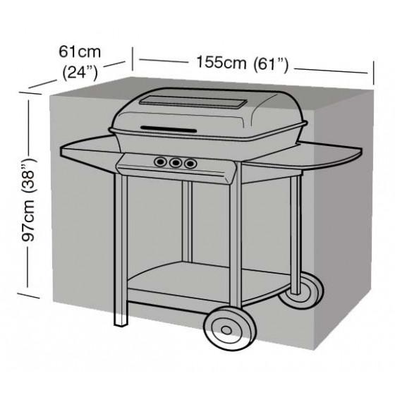 housse de protection barbecue noire chez jardin et saisons. Black Bedroom Furniture Sets. Home Design Ideas