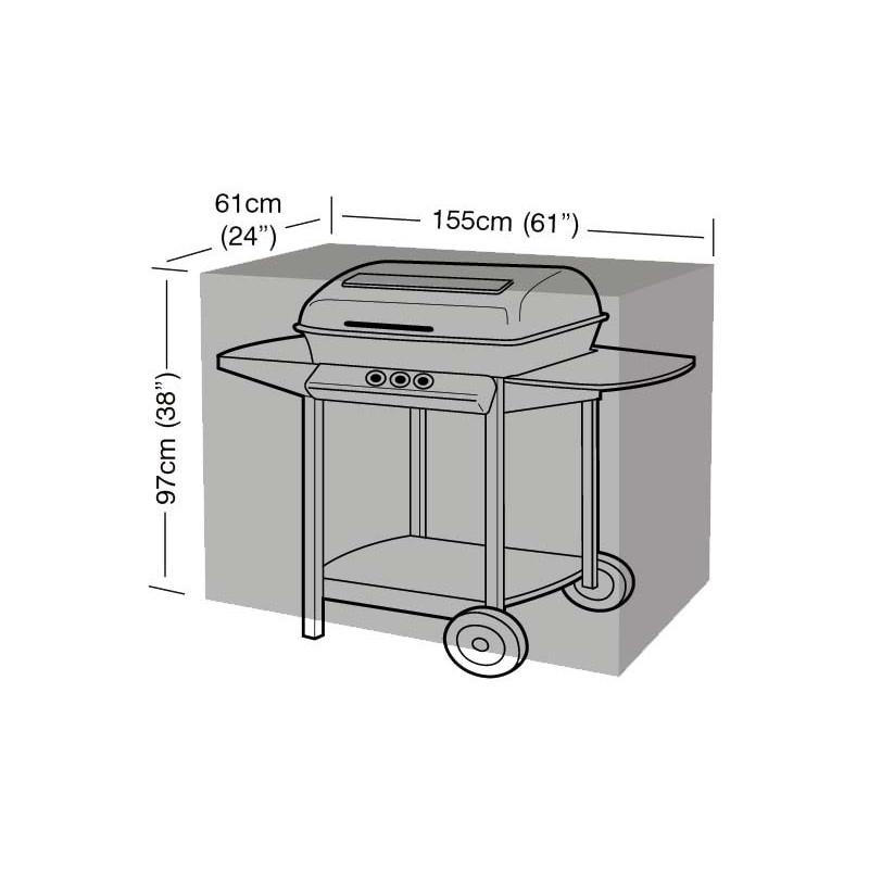 Housse de protection noire barbecue for Housse de barbecue