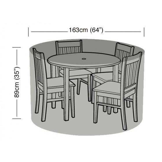 Housse de protection table de jardin ronde et 4 chaises haut de gamme