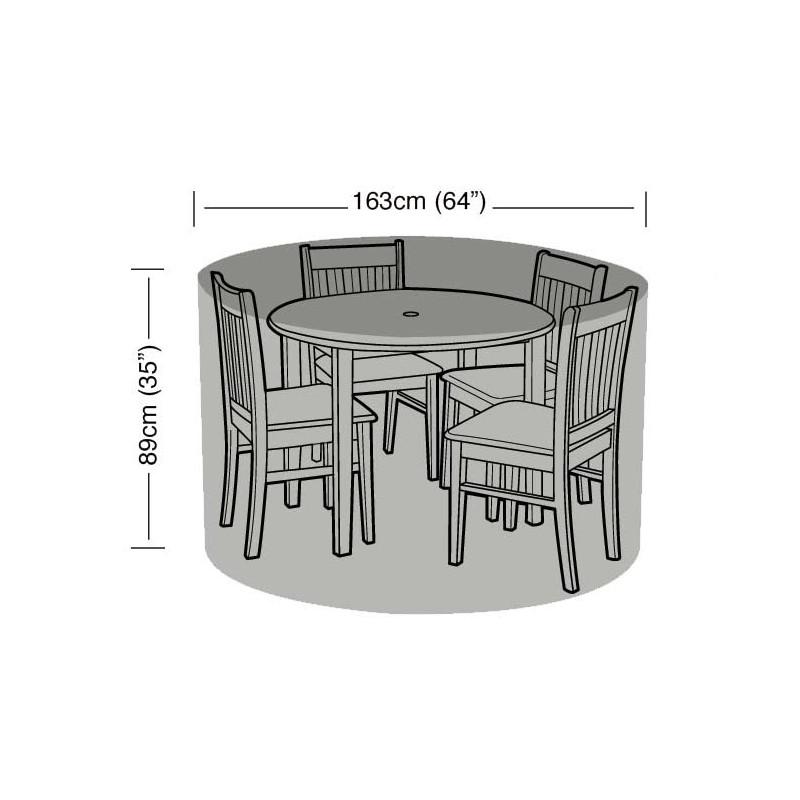 Housse de protection table ronde et 4 chaises jardin et - Housse de protection table et chaises de jardin ...