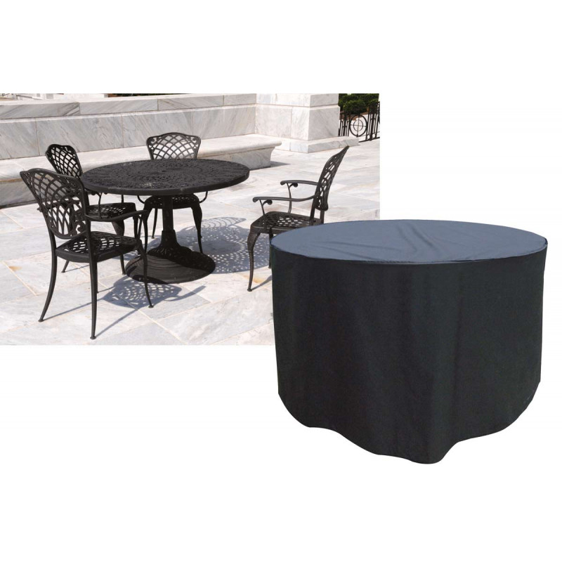 Housse de protection table ronde et 4 chaises - Ensemble table ronde 4 chaises ...