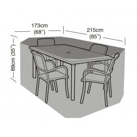 Housse de protection table rectangulaire et 4 chaises