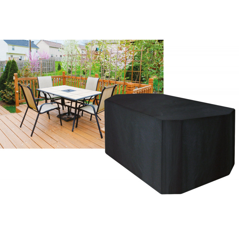 Housse de protection table rectangulaire 4 chaises - Housse protection table jardin rectangulaire ...
