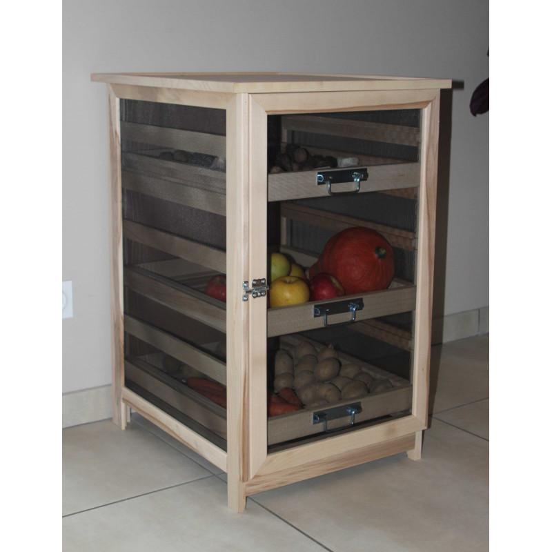 meuble l gumier fruitier en bois home meuble garde manger