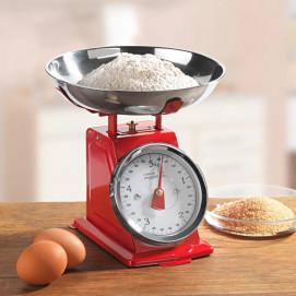 Balance de cuisine rétro rouge 5 kg