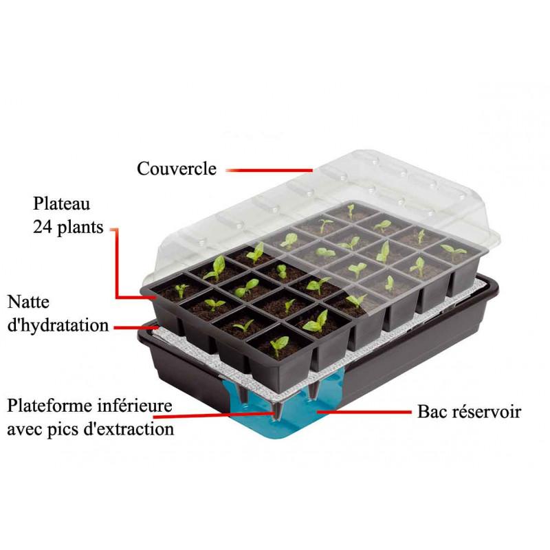bac semis avec arrosage automatique 24 jardin et saisons. Black Bedroom Furniture Sets. Home Design Ideas