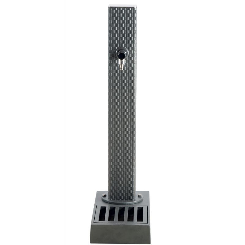 borne fontaine en fonte pixel gris vasque. Black Bedroom Furniture Sets. Home Design Ideas