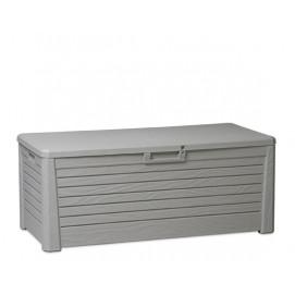 Coffre de rangement extérieur gris en résine 550 litres