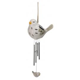 Carillon à vent solaire oiseau en céramique