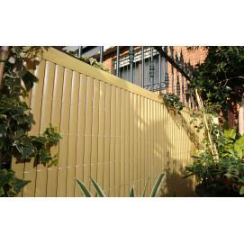 Canisse PVC double face 3m x 1m aspect bambou