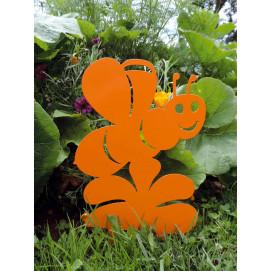 Figurine en métal abeille à planter