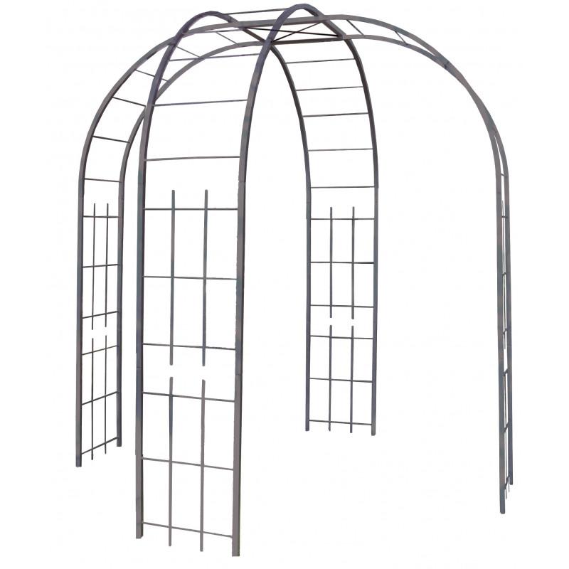 pavillon de jardin en acier jardin et saisons. Black Bedroom Furniture Sets. Home Design Ideas