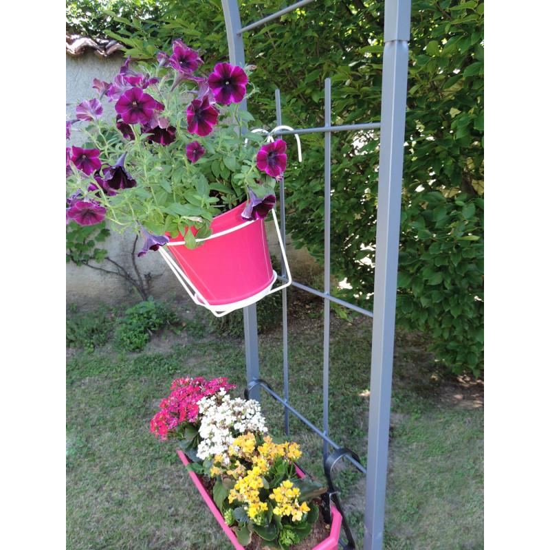 Pavillon de jardin en acier jardin et saisons for Jardinetsaisons