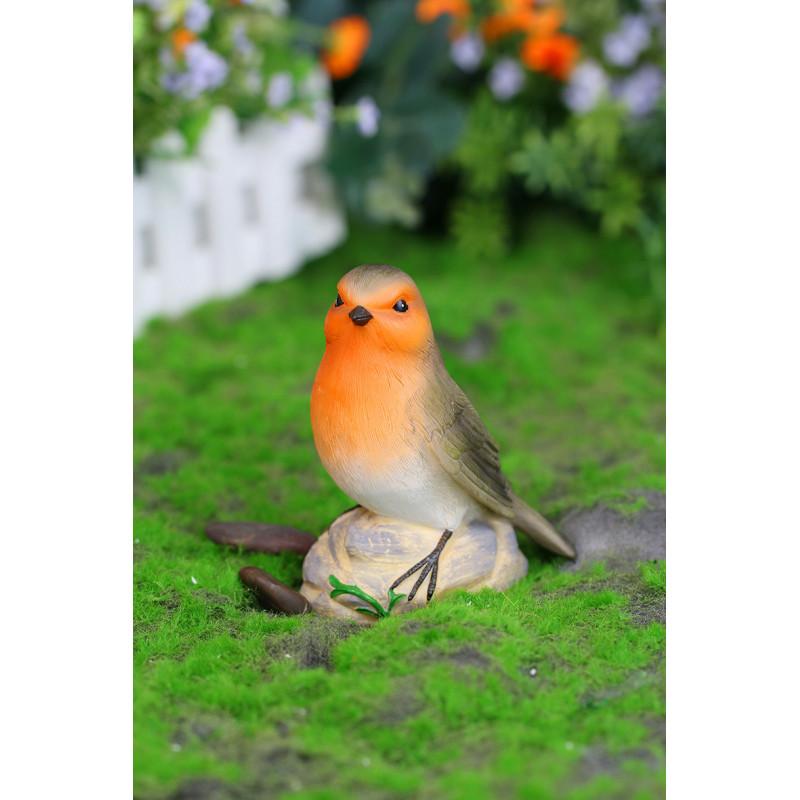 Oiseau solaire d coratif en polyr sine for Jardinetsaisons