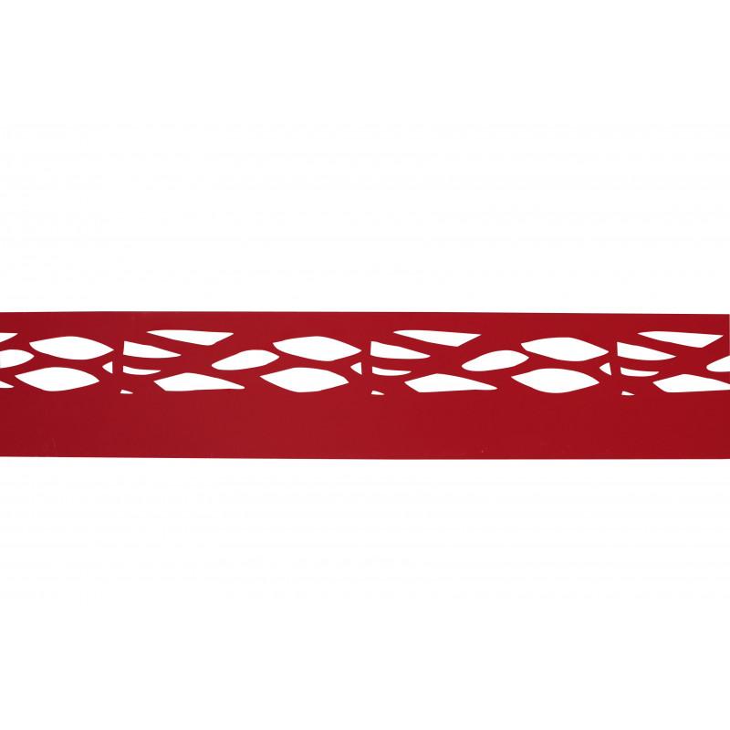 Votre Bordure de jardin en acier rouge rubis ajourée Jardin et Saisons