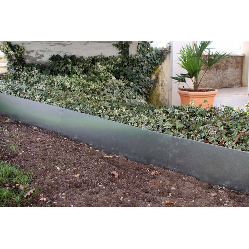 Commandez votre bordure de jardin en acier galvanisé brut H 25 cm !