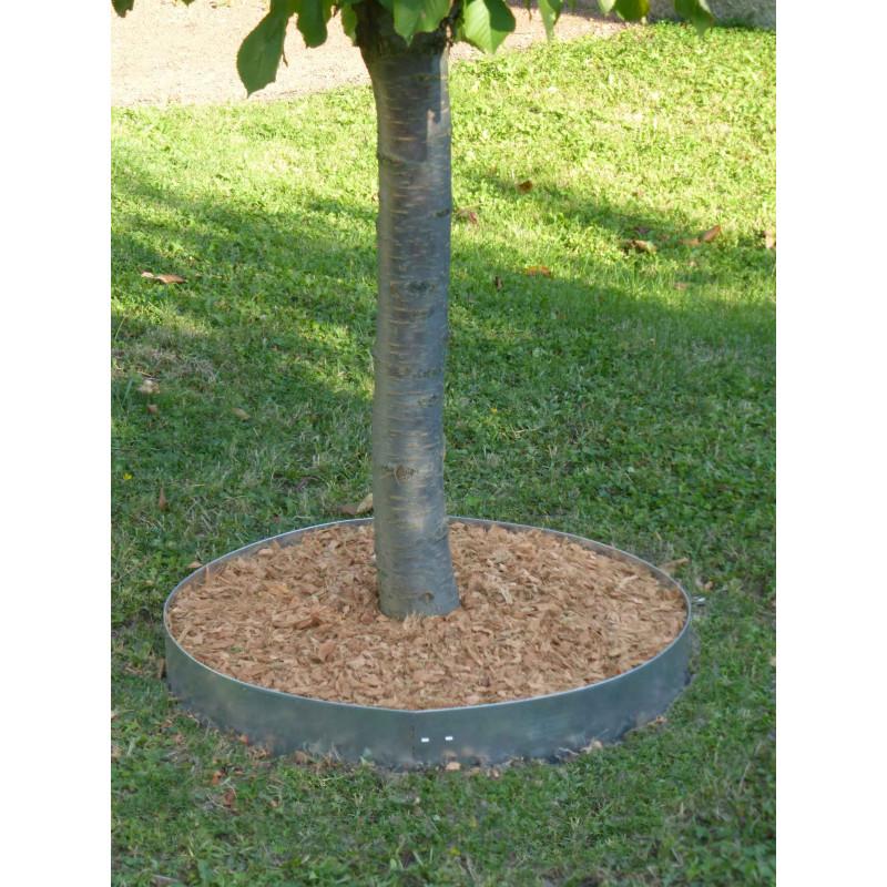Commandez votre bordure de jardin en acier galvanis brut for Bordures de jardin